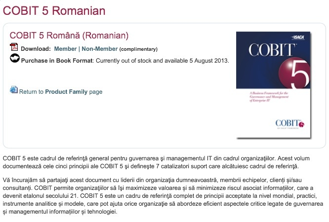 COBIT 5 Romana